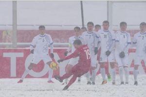 'Cầu vồng trong tuyết' của Quang Hải được so sánh với đường cong thương hiệu Beckham