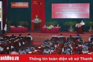 Đại biểu Quốc hội tiếp xúc cử tri huyện Hoằng Hóa