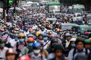 Giao thông rối loạn ở khu vực Nguyễn Hữu Cảnh