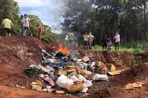 Tiêu hủy trên 1,3 tấn hàng hóa vi phạm tác động xấu đến sức khỏe