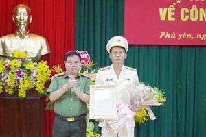 Thượng tá Nguyễn Khỏe được bổ nhiệm Phó Giám đốc Công an tỉnh Phú Yên