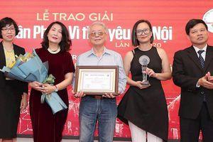 Nhạc sĩ Phú Quang được vinh danh tại giải thưởng Bùi Xuân Phái - Vì tình yêu Hà Nội