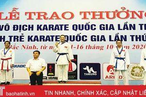 Hà Tĩnh xếp thứ 4 Giải vô địch trẻ Karate quốc gia