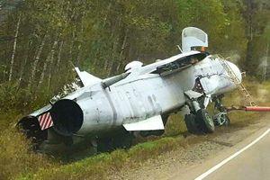 Su-24M của Nga lao xuống mương tại Primorye