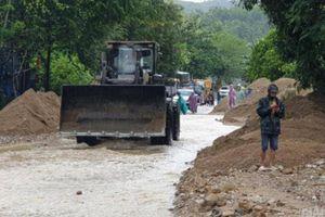 Cần gần 16 tỷ đồng sửa chữa tạm hư hỏng quốc lộ do mưa lớn