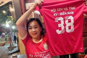 Gần 3.000 áo đấu in logo CLB Hồng Lĩnh Hà Tĩnh sẽ được tung ra tại sân Thống Nhất