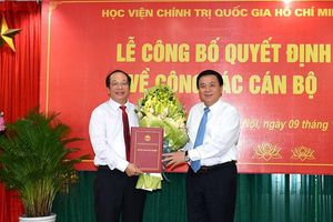 PGS.TS Lưu Văn An được bổ nhiệm làm Quyền Giám đốc Học viện BC&TT
