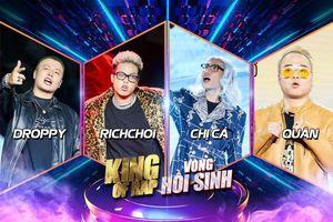 Cổng bình chọn KING OF RAP chính thức mở: RichChoi - Chị Cả - Quân - Droppy tung MV visual art đỉnh cao, 'nội chiến' giành voting