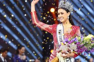 Cận cảnh cô gái lai đăng quang Hoa hậu Hoàn vũ Thái Lan