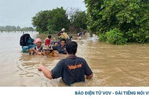 Lũ lụt tại Campuchia làm 2 người chết, hàng nghìn người di tản
