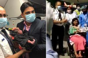 Thai phụ vượt cạn thành công trên máy bay