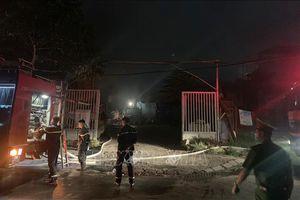 Khống chế đám cháy tại kho xưởng ở Thanh Trì