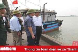 Phó Chủ tịch UBND tỉnh Phạm Đăng Quyền kiểm tra, chỉ đạo phòng, chống bão số 7 tại TP Sầm Sơn
