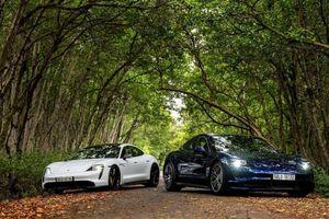 Porsche chính thức ra mắt dòng xe thể thao thuần điện cao cấp Taycan tại Việt Nam