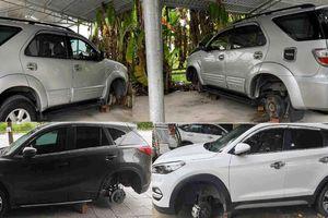 Công an điều tra vụ nhiều xe ô tô ở TP Vinh bị trộm bánh trong đêm