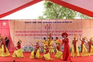 Hưng Yên đón nhận Bằng xếp hạng di tích lịch sử văn hóa cấp tỉnh Đền thờ Quốc tổ Lạc Long Quân và Đền thờ Triệu Việt Vương
