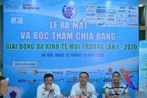 Gây quỹ ủng hộ đồng bào miền Trung tại Giải bóng đá Kinh tế Môi trường lần I-2020