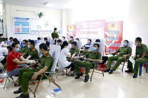 Cán bộ, chiến sĩ Công an tỉnh Quảng Ngãi hiến 233 đơn vị máu