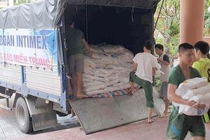 Intimex ủng hộ 10 tấn gạo cứu trợ đồng bào vùng lũ
