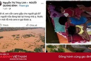 Quảng Bình: Nước lũ dâng cao tới nóc nhà, người dân kêu cứu giữa biển nước
