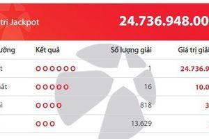 Jackpot giá trị gần 25 tỷ đồng vừa tìm thấy chủ nhân