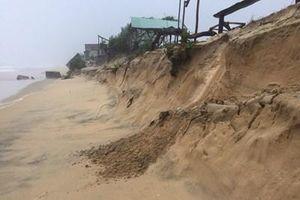 Hơn 10.000 bao cát được sử dụng để gia cố đê biển ở Thừa Thiên - Huế