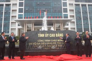 Khánh thành các công trình tiêu biểu chào mừng Đại hội đại biểu Đảng bộ tỉnh Cao Bằng
