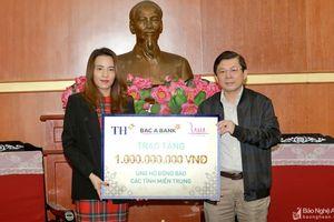 Tập đoàn TH ủng hộ phần quà trị giá 1 tỷ đồng giúp đồng bào vùng lũ miền Trung