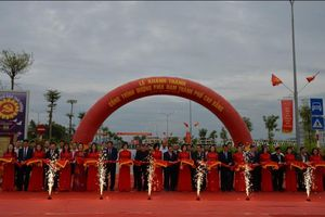 Cao Bằng: Lễ khánh thành gắn biển nhiều công trình chào mừng Đại hội đại biểu Đảng bộ tỉnh lần thứ XIX