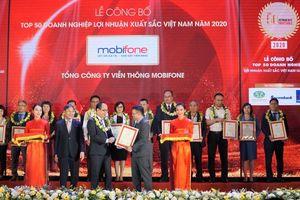 MobiFone có mặt trong Top 500 doanh nghiệp lợi nhuận tốt nhất Việt Nam năm 2020