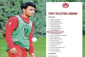 Sao trẻ Malaysia theo chân Công Phượng ra sân thi đấu giải Bỉ