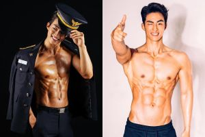 Nam cảnh sát Hàn Quốc khoe cơ bụng 6 múi