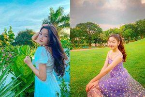 Con gái 14 tuổi MC Quyền Linh xinh đẹp, ăn mặc cực nữ tính