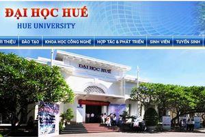 Đại học Huế công bố điểm chuẩn trúng tuyển đợt bổ sung theo hai phương thức