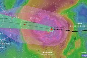 Bộ Quốc phòng lập 2 đoàn kiểm tra ứng phó bão số 9