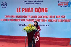 Quận Hoàng Mai phát động hưởng ứng Chương trình truyền thông 'Vì An toàn giao thông Thủ đô' năm 2020