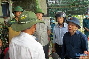 Lãnh đạo UBND tỉnh kiểm tra công tác phòng chống bão số 9 ở các địa phương