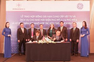 EVNGENCO 3 và GE: Ký hợp đồng cung ứng vật tư cho Nhà máy Điện Phú Mỹ 2.1, Phú Mỹ 4