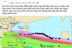 Nhiều tỉnh Tây Nguyên cho HS nghỉ học khẩn tránh bão số 9