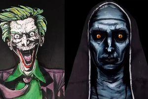 Cô gái khiến người xem khiếp sợ khi hóa trang thành Joker, Valak