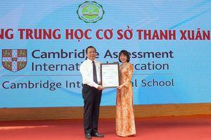Việt Nam có trường THCS quốc tế Cambridge đầu tiên