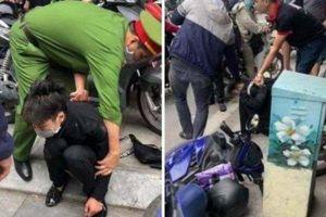 Bắt giữ nam thanh niên dùng dao cướp tiệm vàng giữa phố Tôn Đức Thắng