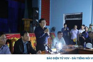 Phó Thủ tướng Trịnh Đình Dũng kiểm tra, đánh giá thiệt hại do mưa bão ở Quảng Nam
