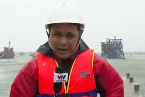Phóng viên VTV đi chống bão, gửi nhà cho hàng xóm, Diệp Chi xót xa vì đồng nghiệp