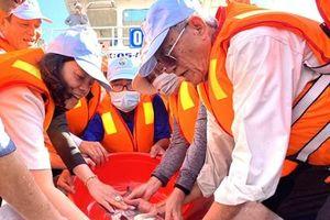 An Giang thả gần 19 tấn cá giống xuống sông tái tạo nguồn lợi thủy sản