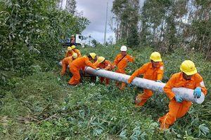 Khoảng 80% phụ tải tại Quảng Nam và Quảng Ngãi được khôi phục