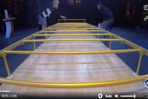 Cô gái lập kỷ lục thế giới khi chui qua gầm
