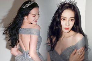 Địch Lệ Nhiệt Ba e ấp diện váy công chúa, khoe khéo lưng trần gợi cảm