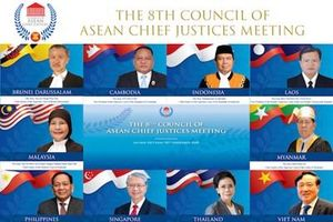Hội nghị Hội đồng Chánh án các nước ASEAN lần thứ 8 ra Tuyên bố Hà Nội