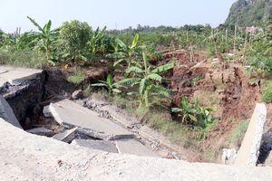 Huyện Thủy Nguyên hỗ trợ kinh phí khắc phục sụt lún đất tại xã An Sơn
